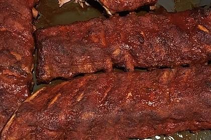 Köstliche BBQ Spareribs für Smoker und Backofen mit Soße und Gewürzmischung 36