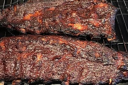 Köstliche BBQ Spareribs für Smoker und Backofen mit Soße und Gewürzmischung 28