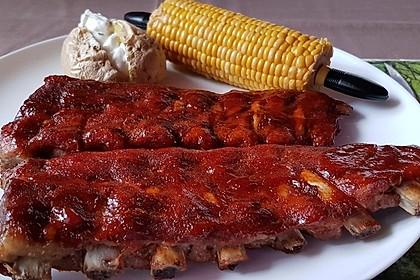 Köstliche BBQ Spareribs für Smoker und Backofen mit Soße und Gewürzmischung 8