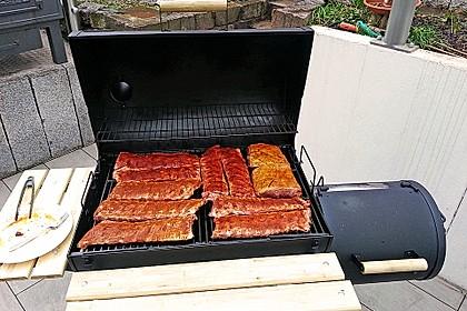 Köstliche BBQ Spareribs für Smoker und Backofen mit Soße und Gewürzmischung 13