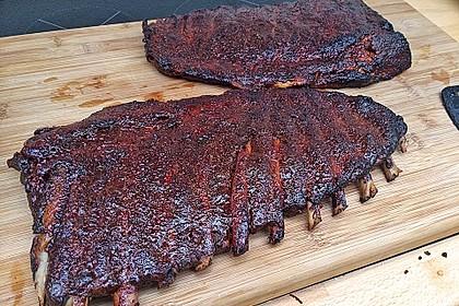 Köstliche BBQ Spareribs für Smoker und Backofen mit Soße und Gewürzmischung 9