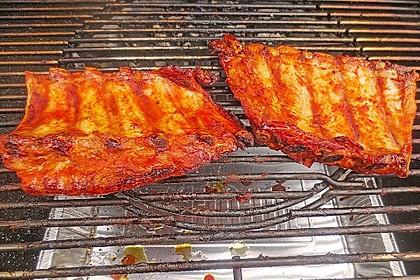 Köstliche BBQ Spareribs für Smoker und Backofen mit Soße und Gewürzmischung 19