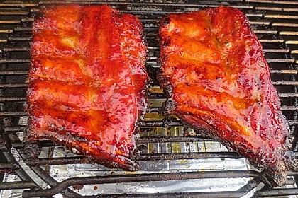Köstliche BBQ Spareribs für Smoker und Backofen mit Soße und Gewürzmischung 10