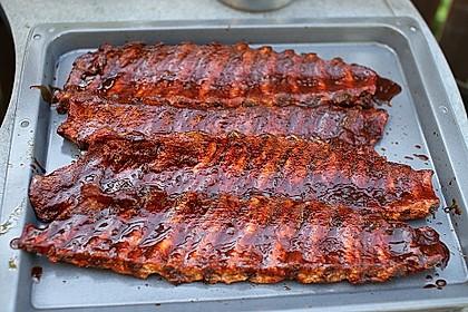 Köstliche BBQ Spareribs für Smoker und Backofen mit Soße und Gewürzmischung 2