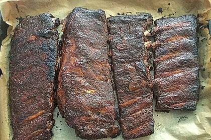 Köstliche BBQ Spareribs für Smoker und Backofen mit Soße und Gewürzmischung 32
