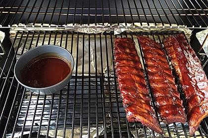 Köstliche BBQ Spareribs für Smoker und Backofen mit Soße und Gewürzmischung 17