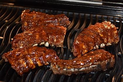 Köstliche BBQ Spareribs für Smoker und Backofen mit Soße und Gewürzmischung 15