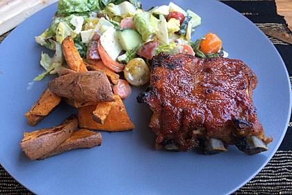 Köstliche BBQ Spareribs für Smoker und Backofen mit Soße und Gewürzmischung 31
