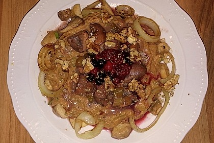 Süßkartoffel-Steinpilz-Püree mit verschiedenen Pilzen 2