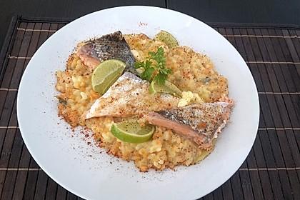 Fischfilet mit Limettenbutter und Linsen-Risotto 21