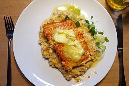Fischfilet mit Limettenbutter und Linsen-Risotto 2