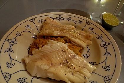Fischfilet mit Limettenbutter und Linsen-Risotto 34