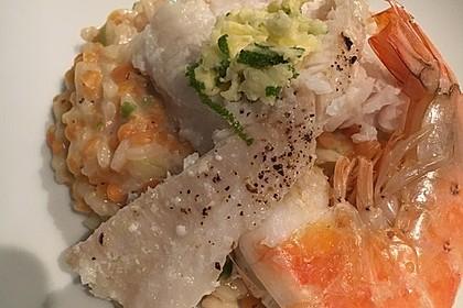 Fischfilet mit Limettenbutter und Linsen-Risotto 18