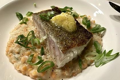 Fischfilet mit Limettenbutter und Linsen-Risotto 29