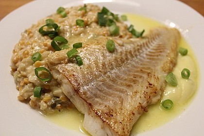 Fischfilet mit Limettenbutter und Linsen-Risotto 8