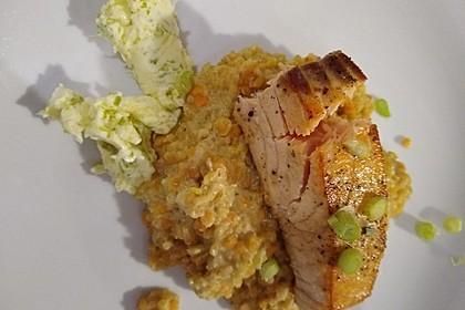 Fischfilet mit Limettenbutter und Linsen-Risotto 5