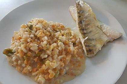 Fischfilet mit Limettenbutter und Linsen-Risotto 24