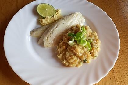 Fischfilet mit Limettenbutter und Linsen-Risotto 6