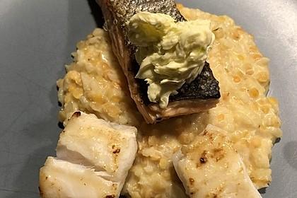 Fischfilet mit Limettenbutter und Linsen-Risotto 25