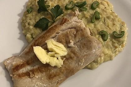Fischfilet mit Limettenbutter und Linsen-Risotto 31