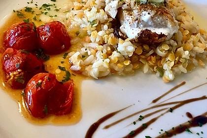 Fischfilet mit Limettenbutter und Linsen-Risotto 10