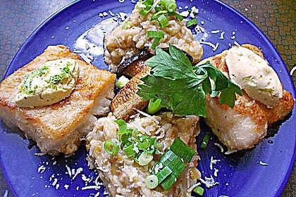 Fischfilet mit Limettenbutter und Linsen-Risotto 16