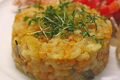 Fischfilet mit Limettenbutter und Linsen-Risotto 12