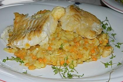 Fischfilet mit Limettenbutter und Linsen-Risotto 11