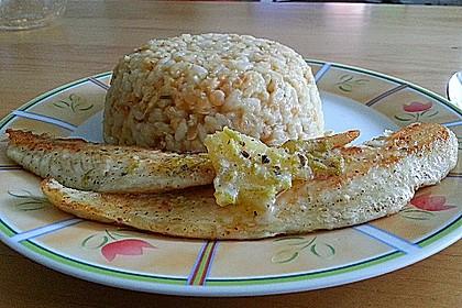 Fischfilet mit Limettenbutter und Linsen-Risotto 22