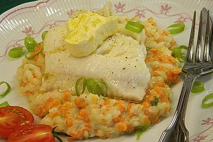 Fischfilet mit Limettenbutter und Linsen-Risotto 9
