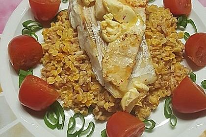 Fischfilet mit Limettenbutter und Linsen-Risotto 28