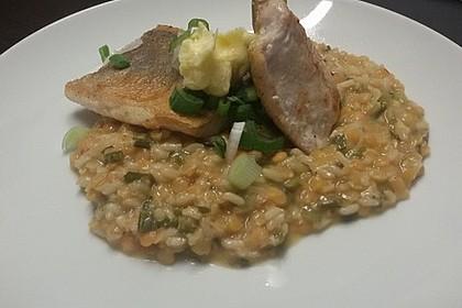 Fischfilet mit Limettenbutter und Linsen-Risotto 27