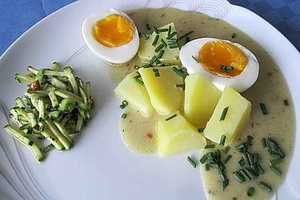 Eier in pikanter Senfsoße 1