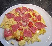 Frühstücks- Pfannenpizza (Bild)