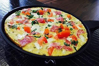 Frühstücks- Pfannenpizza 2
