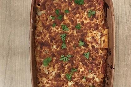 Cremiger Nudelauflauf mit Tomaten und Mozzarella 190