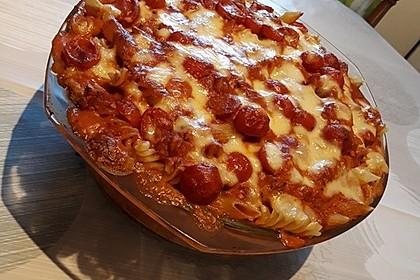 Cremiger Nudelauflauf mit Tomaten und Mozzarella 136
