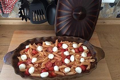 Cremiger Nudelauflauf mit Tomaten und Mozzarella 125