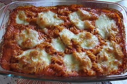 Cremiger Nudelauflauf mit Tomaten und Mozzarella 23