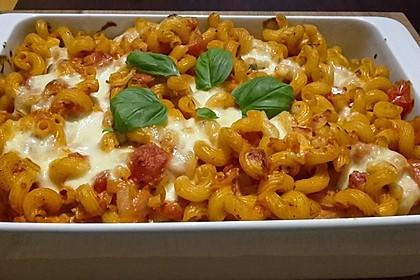 Cremiger Nudelauflauf mit Tomaten und Mozzarella 66
