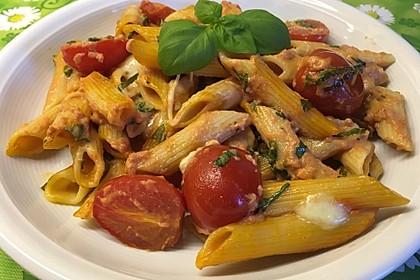 Cremiger Nudelauflauf mit Tomaten und Mozzarella 58