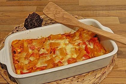 Cremiger Nudelauflauf mit Tomaten und Mozzarella 68