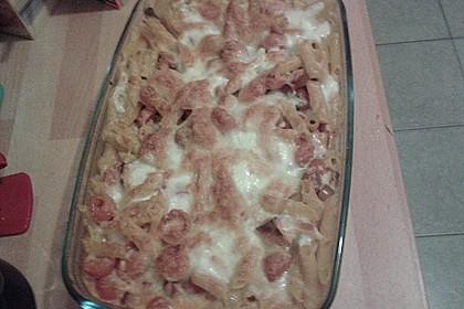 Cremiger Nudelauflauf mit Tomaten und Mozzarella 205