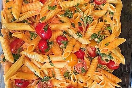 Cremiger Nudelauflauf mit Tomaten und Mozzarella 27