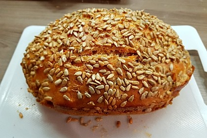 Brot mit Bier gebacken