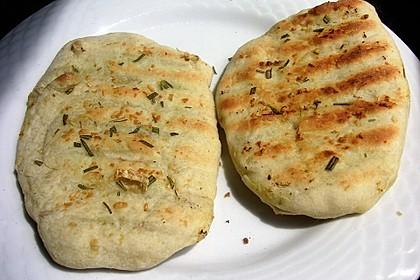 Fladenbrot vom Grill, aus der Pfanne bzw. Ofen 10