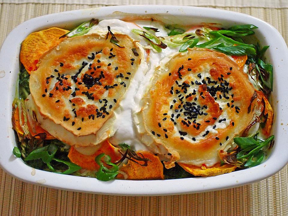 Spinat Süßkartoffel Auflauf Mit Ziegenkäse Von Gandalf99 Chefkoch