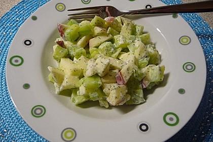 Apfel-Gurkensalat 1