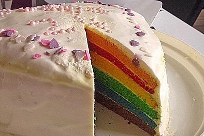 Regenbogen-Torte 17