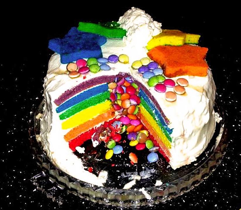 Regenbogen Torte Von Sweetee Chefkoch De